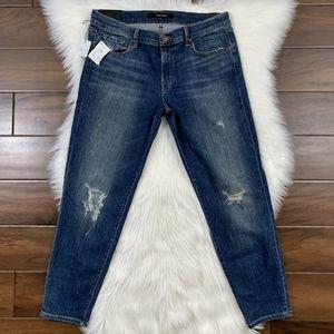 J Brand Distressed Cropped Skinny Denim Jeans